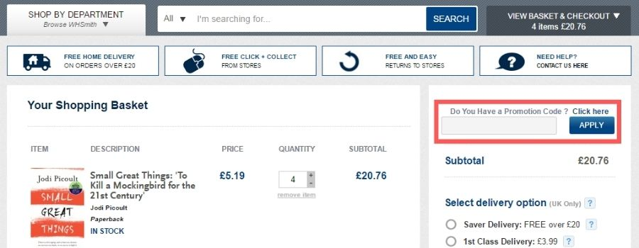 how-to-use-whsmith-promo-code